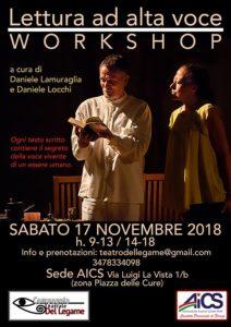 Locandina Workshop Lettura a Alta Voce